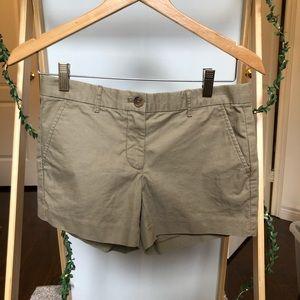 Low rise khaki shorts